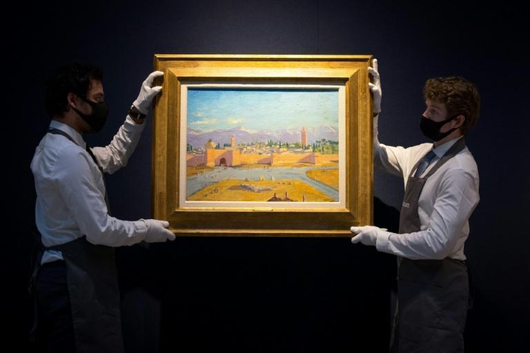 """""""Tour de la Mosquée Koutoubia"""": le chef-d'oeuvre de Winston Churchill mis aux enchères"""